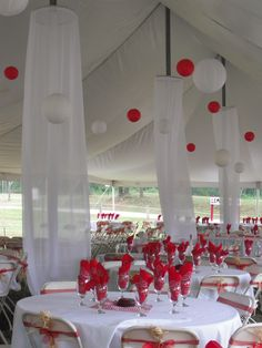 red and white wedding by advantage events llc