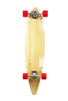 "Natural Blank & Stained Complete Longboard Pintail Skateboard (Bamboo, 40"" x 9)"
