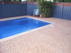 TrueLocal: Intext Resurfacing, Concreting, Grinding & Polishing Image - pool surrounds in exposed aggregate Pool Paving, Swimming Pool Landscaping, Pool Decks, Swimming Pools, Landscaping Ideas, Pool Backyard, Patio, Exposed Aggregate Concrete, Concrete Deck
