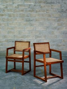 Teak and Cane Armchairs for University Penjab, Chandigarh, To get this made, Drop us a mail at info for more details and designs Cane Furniture, Rattan Furniture, Furniture Making, Vintage Furniture, Living Room Furniture, Simple Furniture, Pierre Jeanneret, Chair Design, Furniture Design