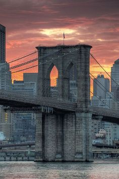 Brooklyn Bridge, back in the day, people were afraid to cross the bridge when it was finished. Barnum and Baley Circus, had 84 elephants cross the bridge. It is 1 of the biggest suspension bridges in the world.