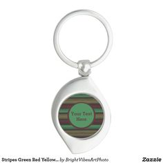 Shop for customizable Green keychains on Zazzle. Buy a metal, acrylic, or wrist style keychain, or get different shapes like round or rectangle! Green Gifts, Green Colors, Stationery, Stripes, Personalized Items, Yellow, Grey, Style, Gray