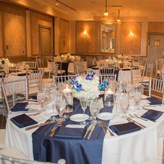 In July of 2016 we had the amazing opportunity to work with the Team from L'Escale at the Delamar Greenwich. This elegant wedding featured navy shantung table runner and napkins stunning flowers with a punch of color by dendrobium orchids fine dining and a fabulous view. Thank you to the entire team for making this an incredible day for our Clients! @ajoyousmomentphoto thank you for the wonderful pictures more to come! #ccblct #CCBL #weddinginspo #weddinginspiration #weddingplanner…