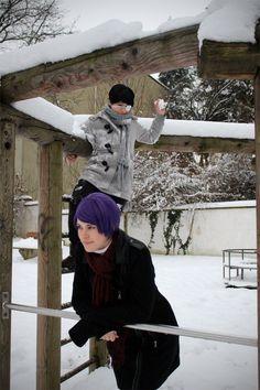 """Snowball - xUta(Uta / Kassim) Shu Tsukiyama, xKoe(xKoe) Ken Kaneki Cosplay Photo"""