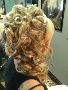 side updo wedding prom formal hair color for blondes
