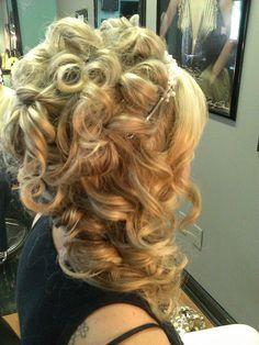 side updo wedding prom formal hair color for blondes