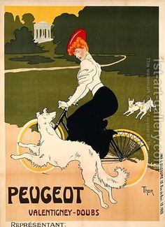 Walter Thor:Poster advertising Peugeot bicycles, printed by G. Elleaume, c.1910