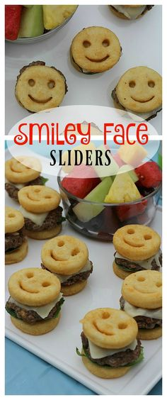 These Smiley Face Sliders made with McCain Smiles are a perfect summer snack or meal that will thrill children and adults alike! Get the #recipe today! #JoyInTheSummer #ad