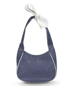 Take a look at this Navy & White Nantucket Hobo by BODHI on #zulily today!