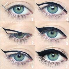 Paso a paso para lograr un eye cat perfecto. #CatEye #pasoapaso #maquillaje…