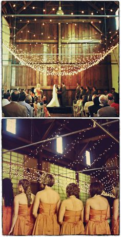 This is similar to what the inside of our wedding ceremony/reception venue is going to look like with the fairy lights at PRR