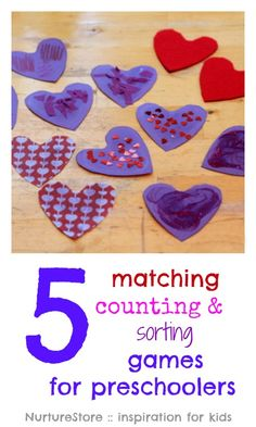 Matching, sorting and coutning games for preschoolers and toddlers
