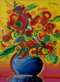 PETER MAX - VASE OF FLOWERS Size: 35.25 x 47.75 INCHES	 Medium: ACRYLIC ON CANVAS	Edition: ORIGINAL Artwork is in excellent condition. Certificate of Authenticity included. Additional images available upon request. Please contact Ken@Gallart.com - (305)932-6166 for pricing.