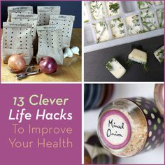 A collage of three different life hacks that improve your health and fitness.