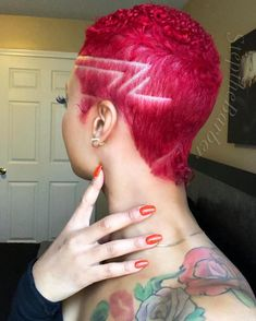 50 Cute Short Haircuts & Hairstyles for Black Women Natural Hair Short Cuts, Short Red Hair, Tapered Natural Hair, Natural Hair Styles For Black Women, Short Hair Cuts, Pixie Cuts, Short Fade Haircut, Shaved Hair Designs, Sassy Hair