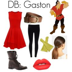 DB: Gaston by disneybounder365 on Polyvore featuring polyvore, fashion, style, Alexander McQueen, Steve Madden, Rochas, L. Erickson, H&M and Lime Crime
