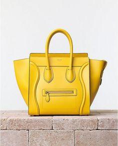 Luggage bag gialla Celine
