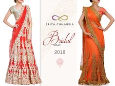 A collection of Sarees, Lehengas and fusion wear for your trousseau needs. Bridal wear 2016 by Priya Chhabria.  #priyachhabria #indianweddings #festive #lehengainspiration #redlehenga #weddingseason #weddings #indianwedding #indianfashion #timeless #desiwedding #bridal #traditional #fashion #lifestyle #anarkali #indiandesigns #bollywoodstyle #instaweddings #loveforweddings #bridalwear2016