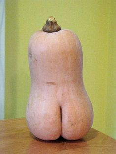 Naked squash!  This made me crack up!
