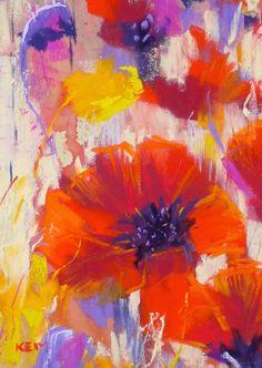 "Daily Paintworks - ""Monday Challenge: Revisit Your Experimental Paintings"" - Original Fine Art for Sale - © Karen Margulis Pastel Artwork, Floral Paintings, Pastel Drawing, Artist Painting, Silk Painting, Fine Art Gallery, Flower Art, Art Flowers, Painting Inspiration"