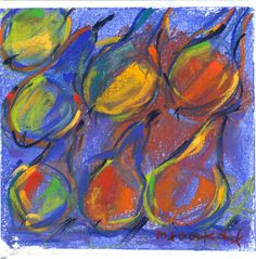 Dancing with the pears Marie-France Oosterhof 15 X 15  cm