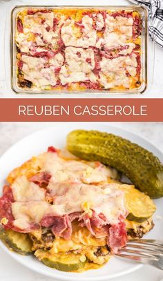 This Reuben Casserole turns a classic sandwich into an easy family-size casserole meal. All your favorite Rueben ingredients are in this dish via @familyfresh Family Fresh Meals, Easy Family Dinners, Quick Easy Meals, Family Recipes, Reuben Casserole, Casserole Dishes, Casserole Recipes, Chicken Casserole, Dinner Entrees