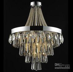 Moderne Kristall Kronleuchter Europäischen Glaskerze Pendelleuchte  Dekorative Schlafzimmer Wohnzimmer U2026 | Kronleuchter | Pinteu2026