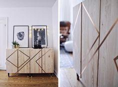Ivar från IKEA med bronsfärgade maskeringstejp – Husligheter