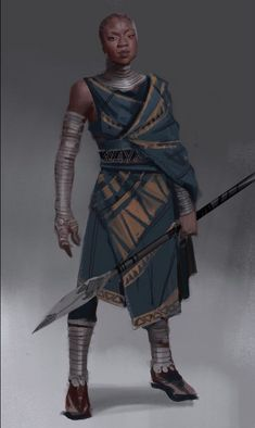 Okoye concept art- Karla Ortiz The thing is this could do well for your web-site, Black Characters, Dnd Characters, Fantasy Characters, Female Characters, Fantasy Character Design, Character Design Inspiration, Character Concept, Character Art, Inspiration Drawing