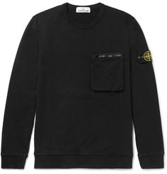 Shop Stone Island Loopback Cotton-jersey Sweatshirt from stores. Island Man, Stone Island, Football Casuals, Going Out, Sweatshirts, Tees, Womens Fashion, Jumper, Cotton