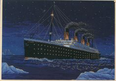 The Night to Remember Titanic Counted Cross by PengyPatterns