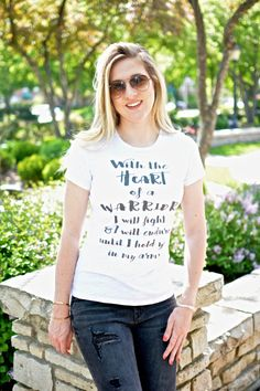 HEaRt of a Warrior I will FiGHT & I will EnDURE Until I hold You in my Arms, IVF, IVF gift, IVF Mom, Infertility, IuI, TtC, Mom top IvF by Little17Shop on Etsy https://www.etsy.com/listing/294826793/heart-of-a-warrior-i-will-fight-i-will