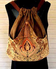 Ricos en borla marrón marrón tapiz mochila del por piperscrossing