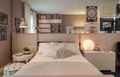 Inspiração decoração quarto feminino rosa - cama (Arquiteta: Paula Magnani)