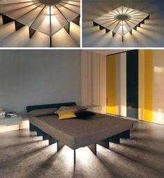 Mesas y camas con iluminación de diseño