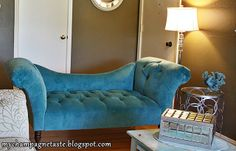 Champagne Taste: - Turquoise Living and Dining Room