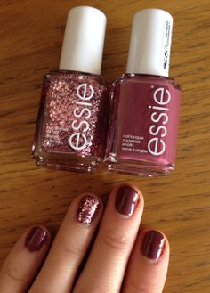 Nail Colors, Nail Polish Trends, Nail Care & At-Home Manicure Supplies by Essie. Shop nail polishes, stickers, and magnetic polishes to create your own nail art look. Love Nails, How To Do Nails, Pretty Nails, Manicure And Pedicure, Glitter Manicure, Glitter Paint, Diy Nails, Nagel Hacks, Essie Nail Colors