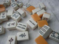 vintage mahjong tiles - on Etsy