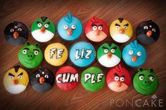 Angry Birds Cupcakes - Cupcakes de Angry Birds