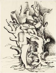 OSSIP ZADKINE - Daphne, 1946, Indian ink, 66 x 51,1 cm | Musée Zadkine