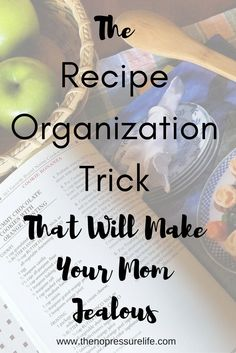 Must pin! Organize recipes once and for all! Learn how to organize ALL your favorite recipes (both online and paper!) all in one easy-to-access spot!   The No Pressure Life