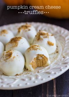Pumpkin Cream Cheese Truffles at therecipecritic.com