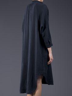Raquel Allegra Gauze Poet Dress in Blue (charcoal) - Lyst