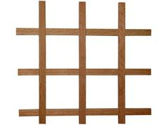 """Omega National Sonoma Series Wine Rack Red Oak - 24"""" x 43"""". Made in USA. Omega National Sonoma series wine racks have a craftsman/mission style design. Glued and mechanically fastened at the joints. 5 unfinished wood species available in 2 sizes. 24"""" x 43"""", 3/4"""" T x 7/16"""" W slats with 90 degree edges. Bottle openings are 3-3/4. x 3-3/4. Holds 28 bottles, can be trimmed to fit. Sold per pair, cabinet not included. Easily cut to fit."""