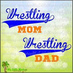 Wresting Mom Wrestling Dad Swoosh Design Title Full Color Digital File 300 dpi Jpeg Transparent Background Png SVG EPS DXF Instant Download - pinned by pin4etsy.com