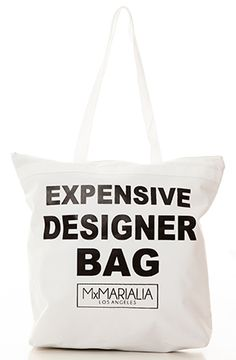 Expensive Designer Bag White Tote by MARIALIA