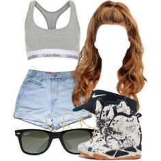 8 18 15 by miizz-starburst on Polyvore featuring moda, Topshop, ASOS, Ray-Ban and NIKE