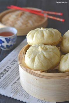 Paw ou baozi - Brioches farcies à la viande, aux champignons noirs et à la coriandre. : la recette facile