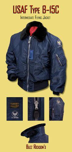 Vintage style Buzz Rickson flight jacket.