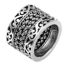 Lois Hill 'Classics' Cutout & Woven Ring